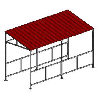 Slanted Roof Cart Corral